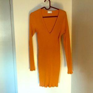 Wilfred free orange dress